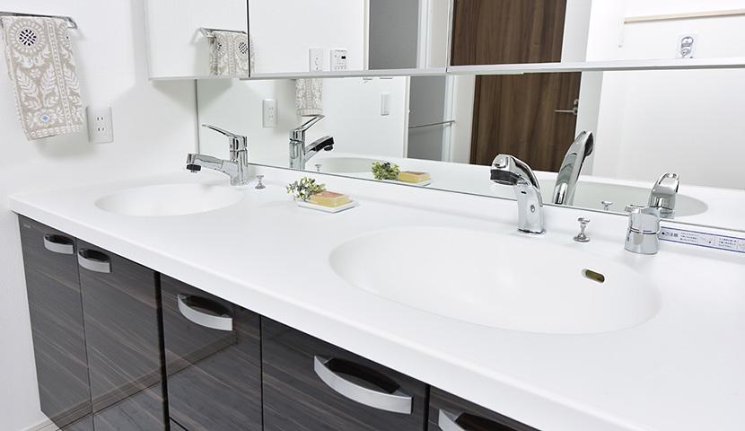 ホテルライクな洗面化粧室