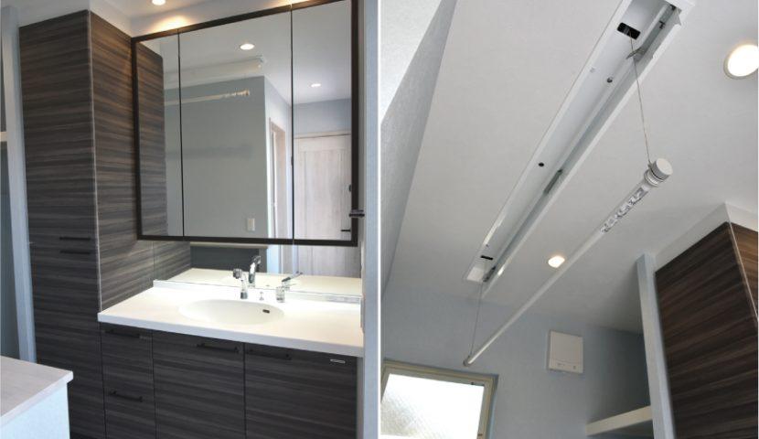 ランドリーコーナー兼洗面室