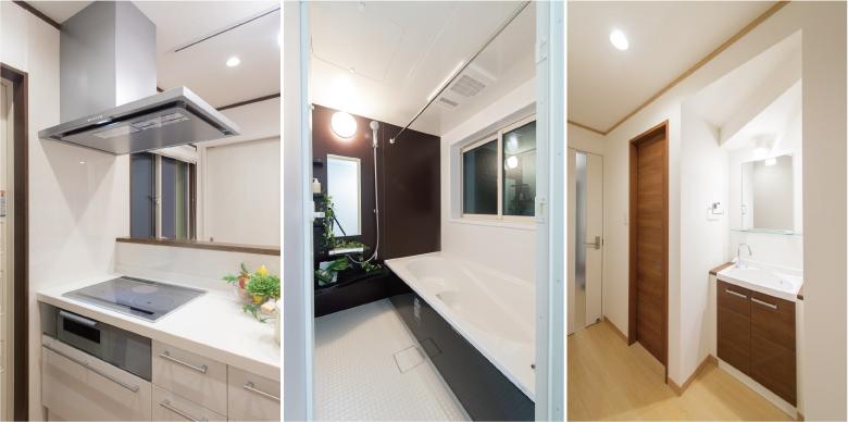 IHクッキングヒーターや浴室換気乾燥機・サブ洗面などの充実した設備仕様